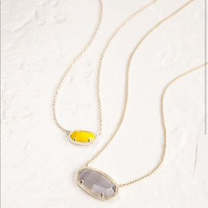 Kendra Scott Delaney Necklace In Slate and Gold